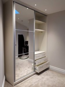 Small wardrobe with sliding doors  Bravo London